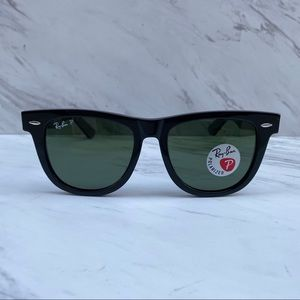 Ray-Ban Wayfarer RB2140 Black Large POLARIZED Lens